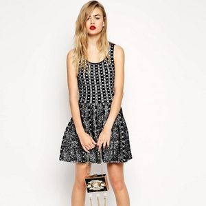 ASOS Structured Skater Dress in Jacquard Knit 6